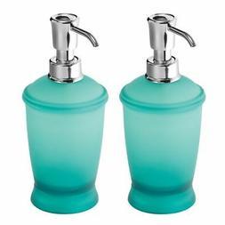 mDesign Modern Plastic Refillable Liquid Soap Dispenser Pump