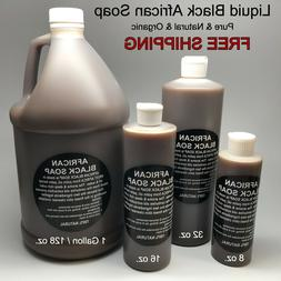 Liquid Raw African Black Soap - 100% Pure & Natural Bath Bod