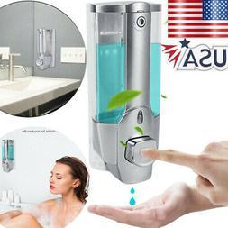 Liquid Soap Manual Dispenser Wall Mount Hand Liquid Shampoo
