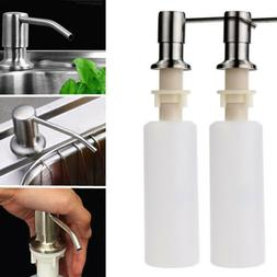 Kitchen Soap Dish Dispenser Stainless Steel Detergent Faucet