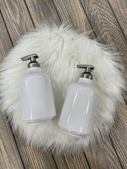 Lot Of 2 Step Soap Pump Umbra Liquid Dispenser Bath Room Whi