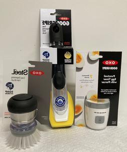 Lot Of Oxo Products - Soap Dispensing Palm Brush, Dish Scrub