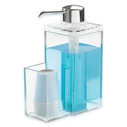 OnDisplay Luxury Acrylic Mouthwash/Soap Pump Dispenser w/Cup