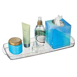 mDesign Bathroom Countertop or Toilet Tank Storage Tray for