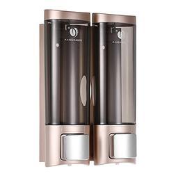2x Manual Hand Soap Dispenser Liquid Lotion Shampoo Shower G