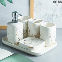 Marble Frosted Gold Ceramics <font><b>Bathroom</b></font> <f