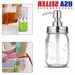 Mason Jar Creative Glass Hand Soap Dispenser Liquid Soap for