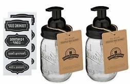 Jarmazing Products Mason Jar Foaming Soap Dispenser - Black