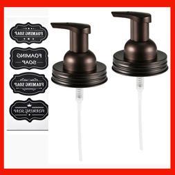 Mason Jar Foaming Soap Dispenser Lids Bronze Rustproof Stain