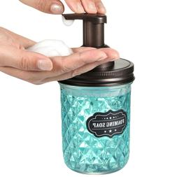 Mason Jar Foaming Soap Dispenser Pump Qtip  Bathroom Apothec