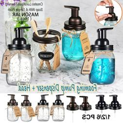 Mason Jar Foaming Soap Dispenser Pump &Replacement Jar Lids