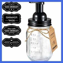 Mason Jar Foaming Soap Dispenser Rustproof Stainless Steel L