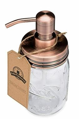 Jarmazing Products Mason Jar Soap Dispenser - Copper - with