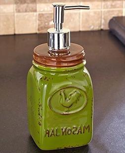 Mason Jar Soap Dispenser Country Kitchen Countertop Hand Pum