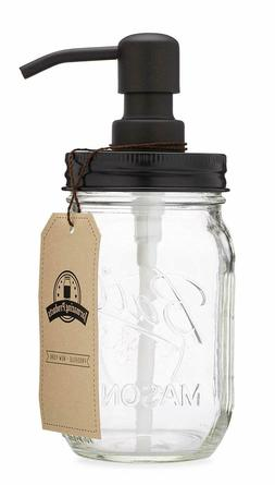 Jarmazing Products Mason Jar Soap Dispenser Made from Rust P