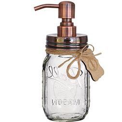 Premium Mason Jar Soap Pump or Lotion Dispenser with 16 Ounc