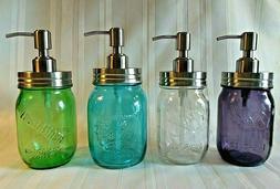 Mason Jar STAINLESS STEEL SOAP & Lotion DISPENSER Pint BALL