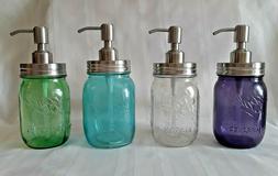 mason jar stainless steel soap dispenser pint