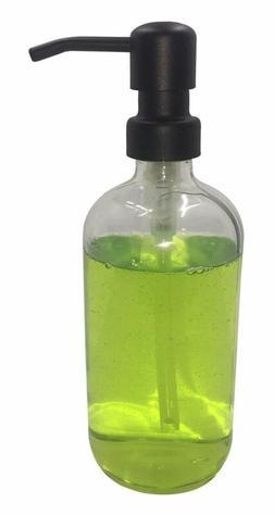 matte black soap dispenser pump on clear