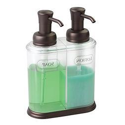 mDesign Double Liquid Hand Soap Dispenser Pump Bottle for Ki