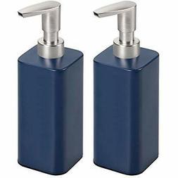 MDesign Modern Metal Square Refillable Soap Dispenser Pump B