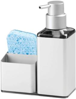 MDesign Rustproof Aluminum Soap Dispenser Pump And Sponge Ca