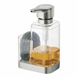 mDesign Soap Dispenser Pump with Sponge or Scrubber Holder f