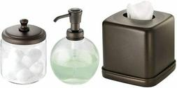 mDesign Soap Dispenser Pump, Facial Tissue Box/Cover/Holder,