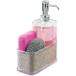 mDesign Soap Dispenser Pump with Sponge and Scrubber Caddy O