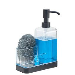 mDesign Soap Dispenser Pump and Sponge/Scrubber Organizer Ca