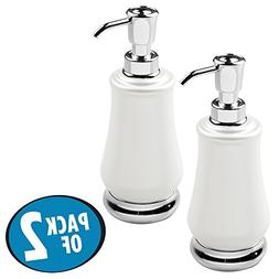 mDesign Frosted Plastic Refillable Liquid Hand Soap Dispense