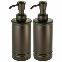 mDesign Metal Refillable Liquid Soap Dispenser Pump, 2 Pack
