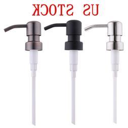 Metal Soap Pump Liquid Lotion Dispenser Replacement Head Jar