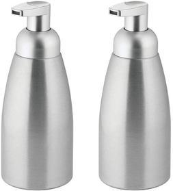 mDesign Modern Metal Foaming Soap Dispenser Pump Bottle for