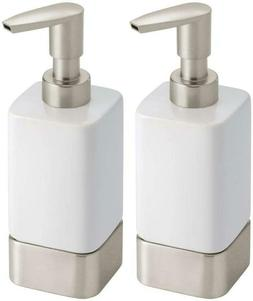 Mdesign Modern Square Ceramic Refillable Liquid Hand Soap Di