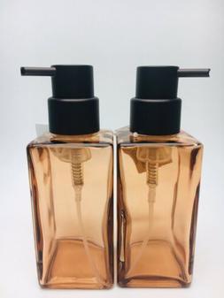 MDesign Modern Square Glass Foaming Hand Soap Dispenser 2-Pa