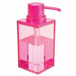 mDesign Modern Square Plastic Refillable Liquid Soap Dispens