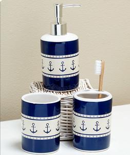 Nautical Bathroom Accessory Set Anchor Soap Dispenser Toothb