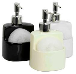 Home Basics NEW Ceramic Soap Dispenser with Sponge Holder Dish SD41147