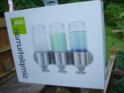 NEW simplehuman TRIPLE dispenser Wall Mount Shower liquid so