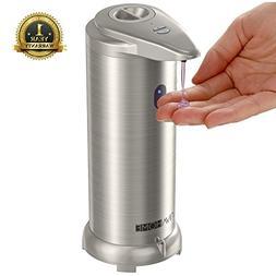 NIVAHOME Soap Dispenser, Automatic Hands Free Fingerprint Re