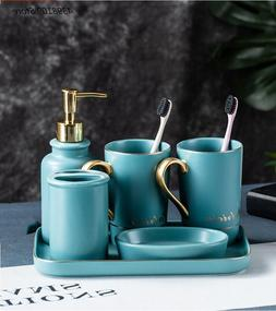 Nordic matte ceramic bathroom supplies toothbrush <font><b>h