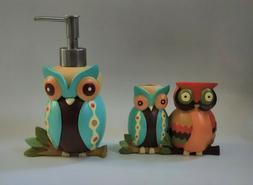 Olika Owl Bath/Kitchen Lotion/Soap Pump Dispenser and Toothb
