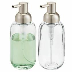 mDesign Plastic Refillable Liquid Soap Dispenser Pump, 2 Pac