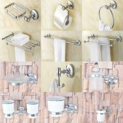 Polished Chrome Brass Bathroom Accessories Set Bath Hardware