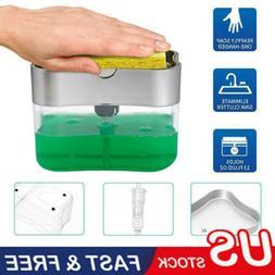 Portable Soap Pump Dispenser & Sponge Holder for Kitchen Dis