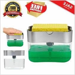 Pump & Sponge Holder LIQUID SOAP DISPENSER Kitchen Caddy Sin