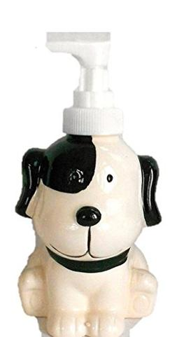 Puppy Soap / Lotion Dispenser Black and White So Cute!!
