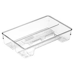 InterDesign Rain Bathroom Storage Drawer Organizer for Denta
