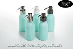 Seafoam Soap Dispenser - Teal 16oz WM Glass Bottle for Liqui
